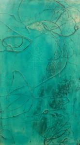 """Left Dream Diptych - 32"""" x 18"""" Acrylic on Canvas"""
