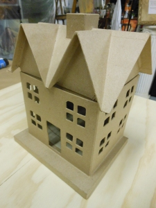Paper mache house I started with.