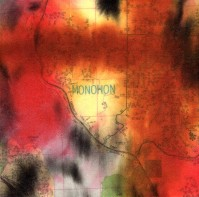 """ProtoNext #129 Acrylic and Map Ink on Paper, mounted on wood, 5""""x5"""""""
