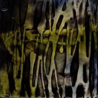 "ProtoNext #71 Acrylic on Paper, mounted on wood, 5""x5"""