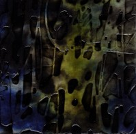 "ProtoNext #75 Acrylic on Paper, mounted on wood, 5""x5"""