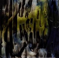 "ProtoNext #77 Acrylic on Paper, mounted on wood, 5""x5"""