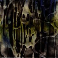 "ProtoNext #79 Acrylic on Paper, mounted on wood, 5""x5"""