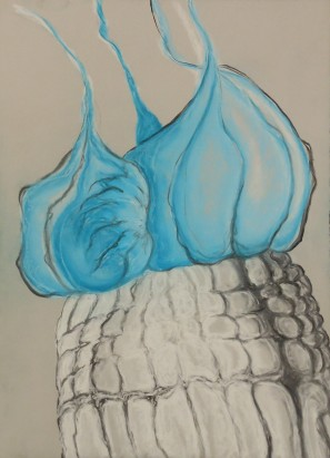 "Halicephalobus Mephisto - Pastel on Magnani Pescia Paper 30"" x 22"""