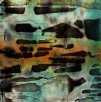 """ProtoNext #53 Acrylic and Sheet Music on Paper, mounted on wood, 5""""x5"""""""